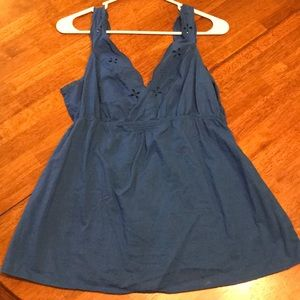 Old Navy blue eyelet tank